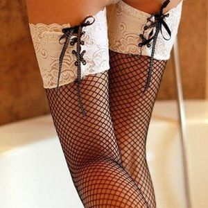 Other - Sexy Fish Net Stockings with Ties, Irresistible